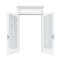 Opened Doors Isolated