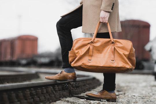 Men's Leather bag - criminal mafia