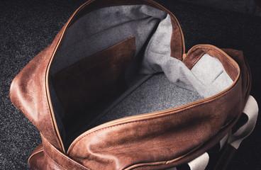 Leather bag design industrial