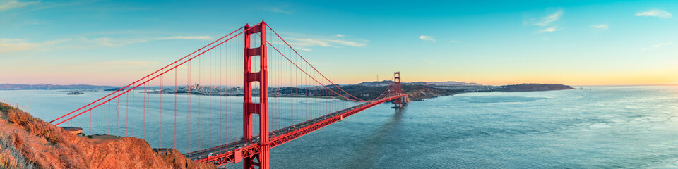 Golden Gate bridge, San Francisco California Wall mural