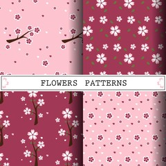 flower vector pattern, cherryblossom pattern design, web page background,surface textures