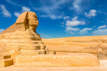 Printed roller blinds Egypt Egyptian sphinx. Cairo. Giza. Egypt. Travel background. Architectural monument. The tombs of the pharaohs. Vacation holidays background wallpaper