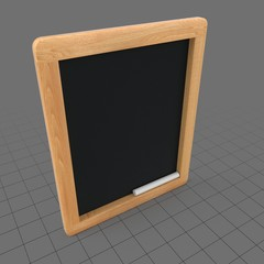 Handheld wooden chalkboard
