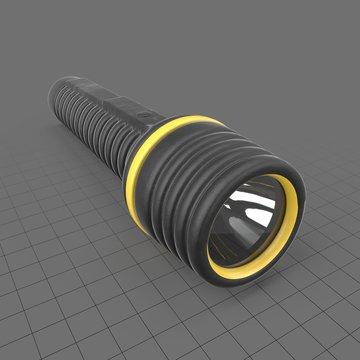 Black rubber flashlight