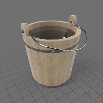 Wooden bucket withandle