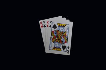 four kings poker hand