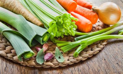 Vegetable Stock Broth Soup Ingredients .