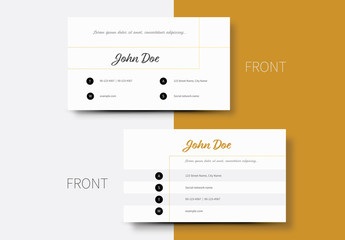 Business Card Layout with Thin Line Element 1