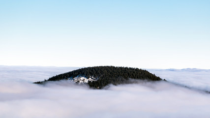 Hasmas mountains are one of the last wild places in Romania. Often, during the cold winter days, the valley fills with thick fog, creating a great show.