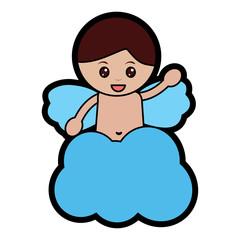 baby angel icon image vector illustration design