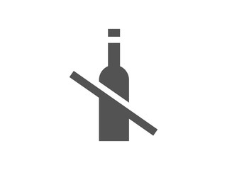 Alcohol prohibition sign. No alcohol vector icon