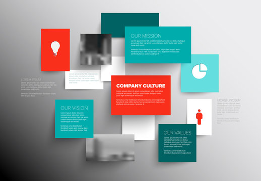 Floating Boxes Company Vision Infographic Layout