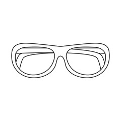 glasses round frame icon image vector illustration design