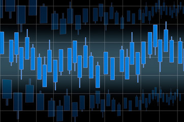 Stock market chart as a background for the site