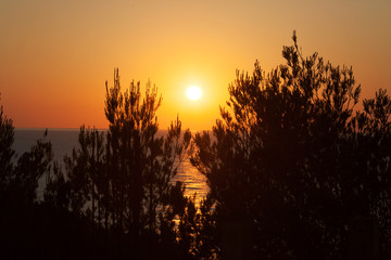 Sunset in the north of the island of Ibiza, Spain