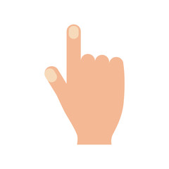 hand with index finger up icon image vector illustration design