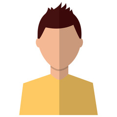 man avatar profile icon image vector illustration design
