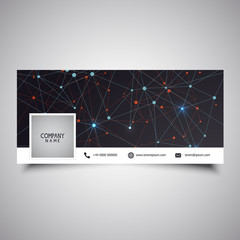 Social media timeline cover design with low poly design