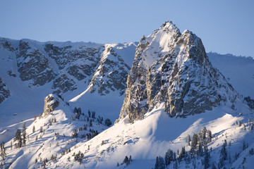 USA, California, Sierra Nevada Mountains. Crystal Crag landscape.