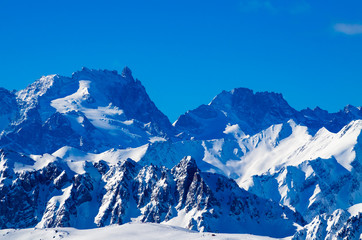 Scenic view of the Alps