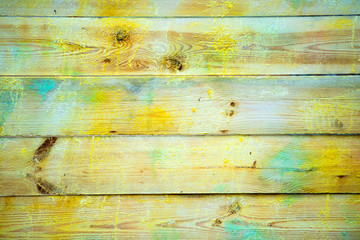Background and Wallpaper or texture of Wooden board or table wood full of colors From the production of art.