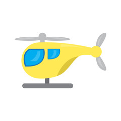 Colored helicopter toy icon