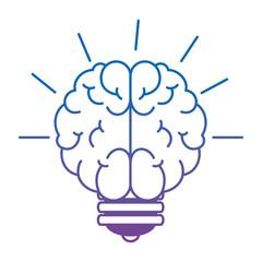 bulb light idea with brain vector illustration design