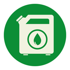oil galon tank icon vector illustration design