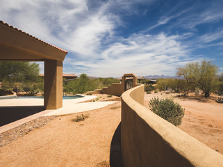 Back Yard of Upscale Desert Property
