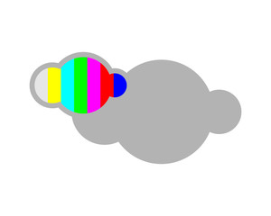 gray cloud cloudy overcast image vector icon