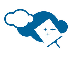cleaner wiper blue sparkling cloud cloudy overcast image vector icon