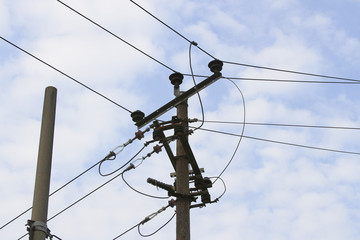 Power poles for transmission of electricity