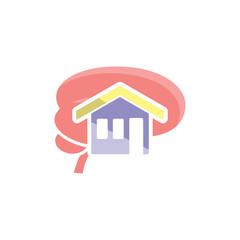 House Brain Logo Icon Design
