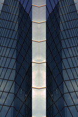 Reflecting Symmetrical Glass Building