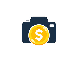 Coin Photo Icon Logo Design Element