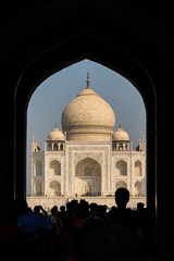 Taj mahal in agra, India. 7 wonder of the Universe or World