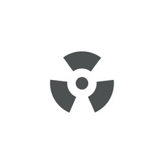 nuclear icon. sign design