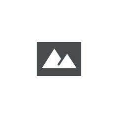 mountain icon. sign design
