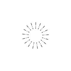 shine icon. sign design