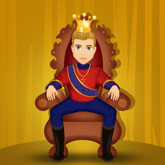 king seated on the throne
