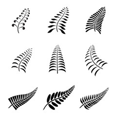 New Zealand Fern Leaf Tattoo and Logo with Maori Style Koru Design