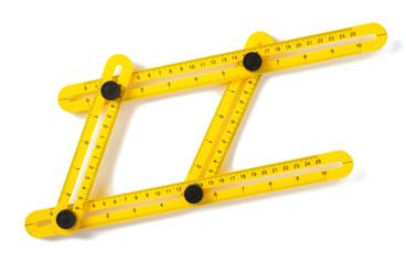 meter ruler isolated on white