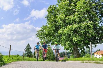 Fototapete - entspannt unterwegs beim Ausflug mit dem Bike