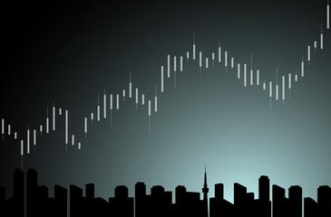 チャート グラフ 都市背景