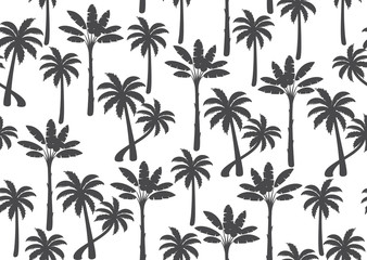Palm tree seamless pattern. Vector llustration