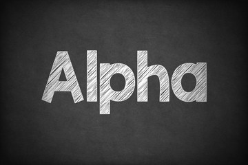 Alpha on Textured Blackboard.