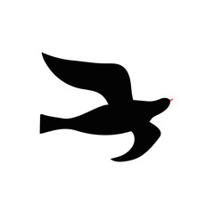 Vector silhouette of bird
