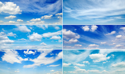 Set wide clouds with blue sky and clouds