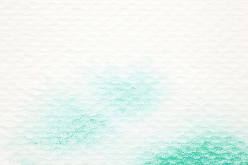 Watercolor background, art abstract green watercolor painting textured design on white paper background