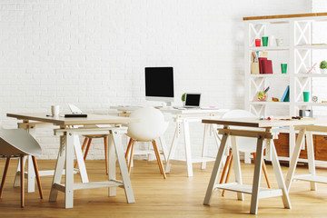 Bright interior with workplace
